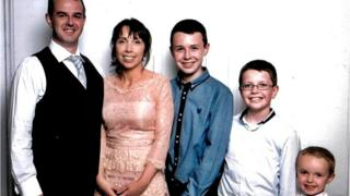Alan and Clodagh Hawe with their sons Liam, Niall and Ryan