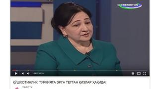 "A picture of Dilbahor Yoqubova, an official in Uzbekistan's justice ministry, who accused ""illiterate mullahs"" of sanctioning polygamous marriages."