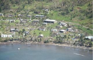 Tweet by the Republic of Fiji of devastation caused by Cyclone Winston, on 22 February 2016