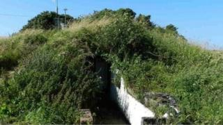 A former World War Two shelter near Nolton Haven, Pembrokeshire