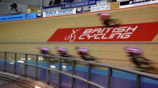 training session at the Manchester Velodrome