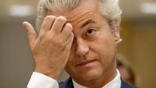 Hollanda'nın Özgürlük Partisi'nin lideri Geert Wilders