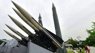 แบบจำลองขีปนาวุธสกั๊ดที่เกาหลีเหนือครอบครองอยู่