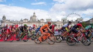 Riders in Prudential RideLondon Classic