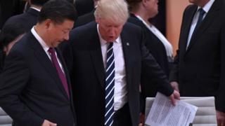 دونالد ترامپ و شی جین پینگ