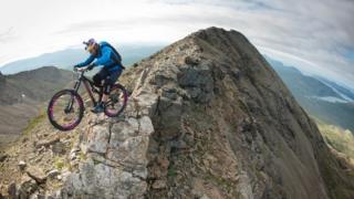 Danny Macaskill on Skye Ridge