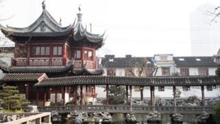 Les jardins du temple Yu Yuan à Shanghai, vestiges du passé chinois.