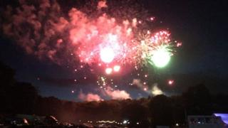 Fireworks over Ashton Court