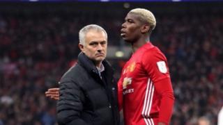 Meneja Jose Mourinho na Paul Pogba