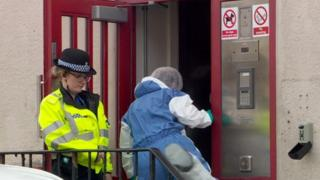 Forensics enter the flat