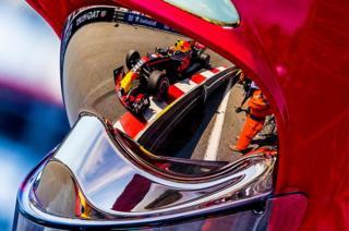 El auto de Max Verstappen