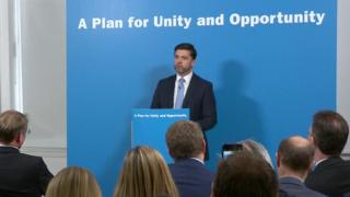 "Work and Pensions Secretary Stephen Crabb promised to heal ""bad blood"" in the party after the EU referendum"