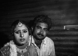 Nautanki dancer CHandani with her husband Amit Kumar