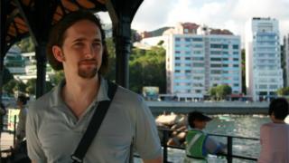 Jonathan Spollen on Hong Kong harbour