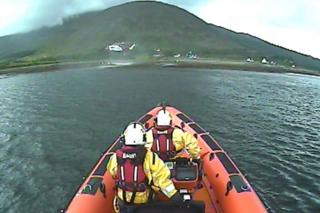 Rescue in Kyle Rhea Straits