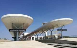 Platforms at Mombasa station