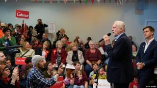 Jeremy Corbyn speaking on Monday