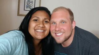 Joshua Holt, 25, and his wife Thamara Candelo pictured together