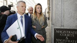 Charlotte Crosby arriving at court