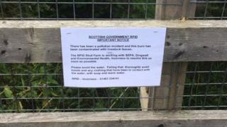 Sign on pedestrian bridge over burn at Culduthel Mains in Inverness