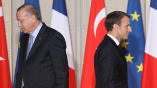 French President Emmanuel Macron and his Turkish counterpart Recep Tayyip Erdogan