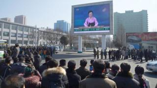 north koreans watching tv