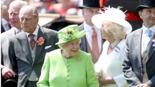 Едизавета II, принц Эдинбургский, принц Чарльз и Камилла, герцогиня Корнуолльская
