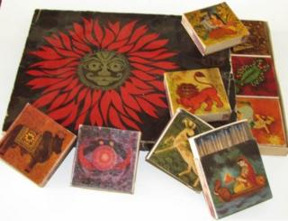 Collector's edition from Wimco. Boxed set of 12 matchboxes on Sun Signs.