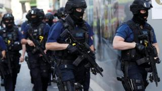 Armed Police in Borough Market