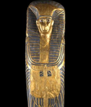 """The coffin of the """"Qurna queen"""""""