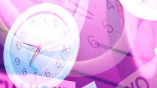 Pink clock faces