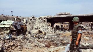 Aftermath of 1983 Lebanon suicide bombing