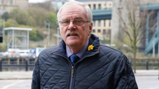 Colin Gregg arrives at Newcastle Crown Court