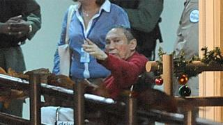 Manuel Noriega after arriving at a prison near Panama City in December, 2011