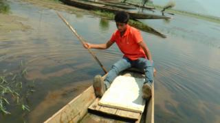 बिलाल अहमद डार, वुलर झील, कश्मीर