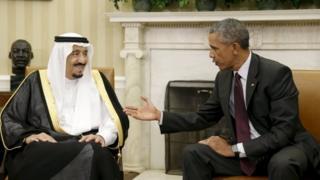 President Obama meets Saudi King Salman at the White House in September 2015