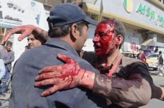 Раненый мужчина в Кабуле