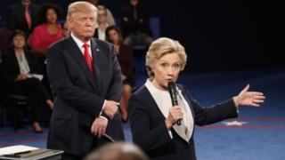 Donald Trump, presidente electo de EE.UU. y Hillary Clinton