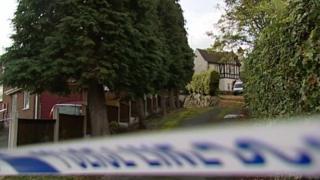 Police cordon on Sandy Lane