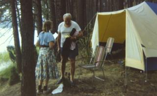 ポーランドで2人が参加したキャンプ旅行で(1978年)