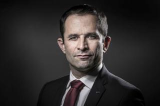 Left-wing politician Benoit Hamon