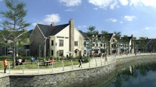 An artist's impression of possible development of the site at Burry Port harbour