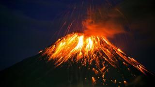 Tungurahua volcano, Equador