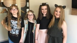 Katie, Scarlett, Naomi and Ellie (left to right)