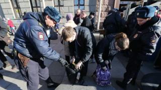 обыск на улице в России
