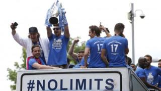 Huddersfield Town on the bus