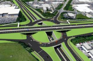 Artist's impression of the triple-decker roundabout