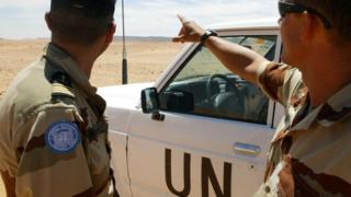 UN soldiers in Western Sahara - archive shot