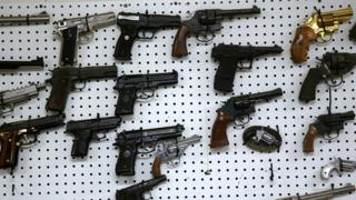 This photo shows guns handed over to Newark Police