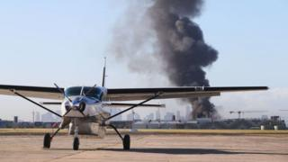 A view from the tarmac at Melbourne's Essendon Airport on Tuesday